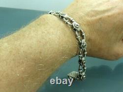 Turkish Handmade Jewelry 925 Sterling Silver Quartz Stone Men Bracelet