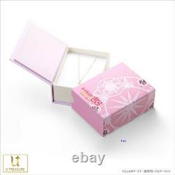 U-TREASURE Card captor Sakura CC Sakura Necklace Silver Japan Gift Free Ship New