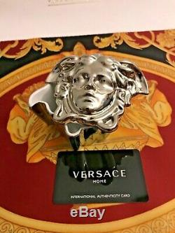 VERSACE MEDUSA TRINKET SILVER JEWELRY BOX ROSENTHAL NEW in Box BEST GIFT IDEA