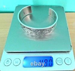 VTG Roderick Tenorio Relios Sterling Silver Bear Cuff Bracelet SM/AVG w Gift Box