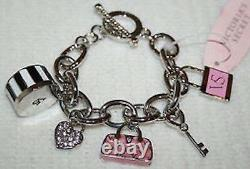 Victorias Secret Charm Toggle Bracelet NEW IN GIFT Bag NWT