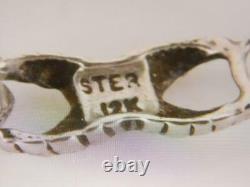 Vintage Black Hills 12k Gold Sterling Silver Bracelet Mint Great Gift