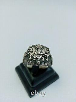 Vintage Sterling Silver 925 Ring Solid Handmade Jewelry Men Gift Size 13 us Old