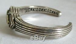 Vintage Sterling Silver Designer Samuel Benham Citrine Gemstone Bracelet GIFT