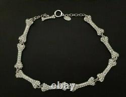 Vivienne Westwood Diamante Dog Bone Choker Necklace. Gift Bag & Gift Box
