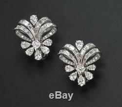 Wedding Dangle Earring Solid 925 Sterling Silver Pear Baguette Flower Style Gift